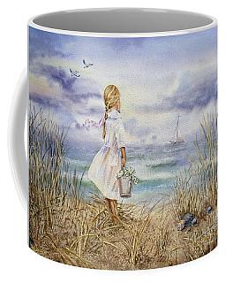 Girl At The Ocean Coffee Mug