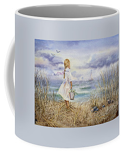 Girl At The Ocean Coffee Mug