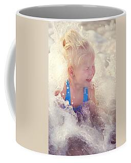Girl And The Sea. Joy In Water Coffee Mug