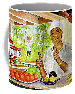 Girl In Dominica Mountains Coffee Mug by Frank Hunter