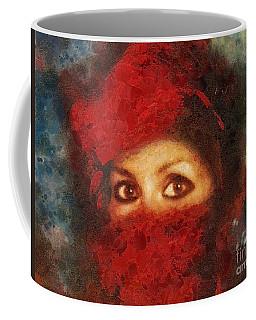 Girl In Red Turban Coffee Mug