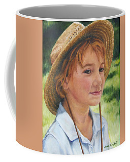 Girl In Straw Hat Coffee Mug