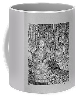 Girl In The Forest Coffee Mug
