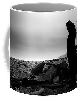 Coffee Mug featuring the photograph Girl On The Beach by Gunnar Orn Arnason