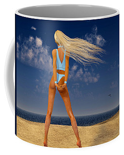 Girl On The Beach... Coffee Mug