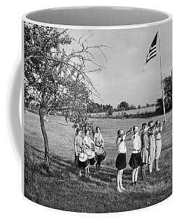 Girl Scout Camp Flag Ceremony Coffee Mug