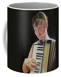 Girl With Accordion Coffee Mug