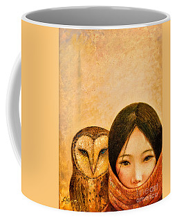 Girl With Owl Coffee Mug