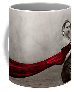 Girl With Red Scarf Coffee Mug