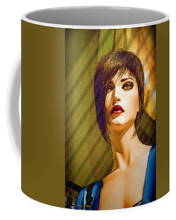 Girl With The Blue Dress On Coffee Mug