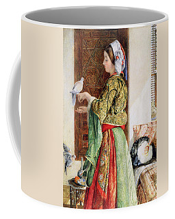 Girl With Two Caged Doves, Cairo, 1864 Coffee Mug