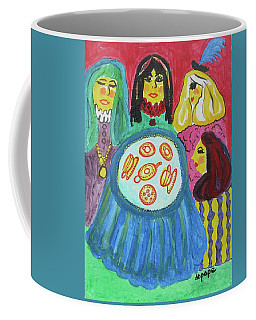 Coffee Mug featuring the painting Girlfriends by Diane Pape