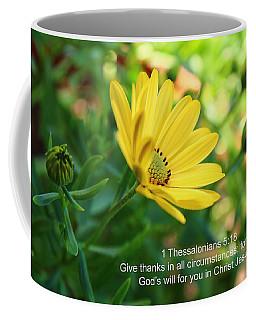 Give Thanks Coffee Mug by Lynn Hopwood