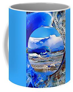 Coffee Mug featuring the painting Glacier by Catherine Lott