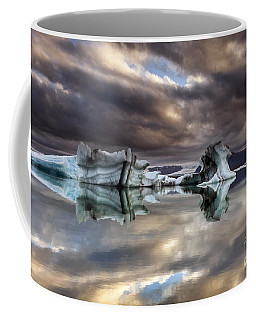 Coffee Mug featuring the photograph Glacier In Water by Gunnar Orn Arnason