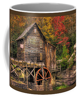 Coffee Mug featuring the photograph Glade Creek Grist Mill-1a Babcock State Park Wv Autumn Late Afternoon by Michael Mazaika