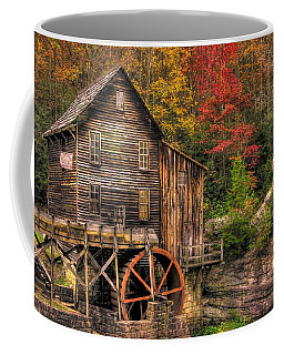 Glade Creek Grist Mill-1a Babcock State Park Wv Autumn Late Afternoon Coffee Mug