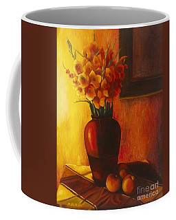 Gladioli Red Coffee Mug by Marlene Book
