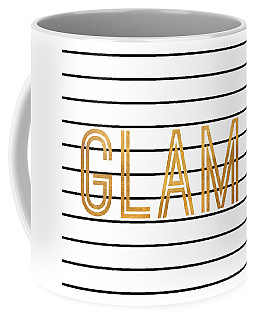 Glam Pinstripe Gold Coffee Mug