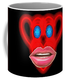 Glamour Monkey Blue Whirls Coffee Mug by Catherine Lott