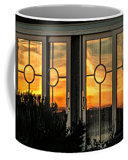 Glass Doors Aglow Coffee Mug