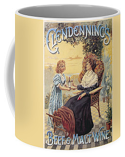 Coffee Mug featuring the photograph Glendenning's Beef And Malt Wine Ad by Gianfranco Weiss