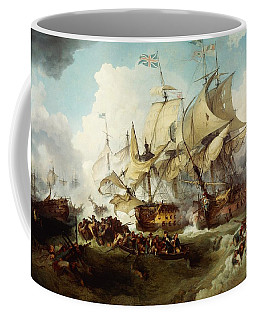 Glorious First Of June Or Third Battle Of Ushant Between English And French Coffee Mug