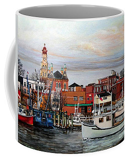 Gloucester Harbor Coffee Mug by Eileen Patten Oliver