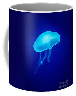 Glowing Blue Jellyfish Coffee Mug