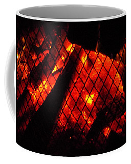 Coffee Mug featuring the photograph Glowing Embers by Darren Robinson