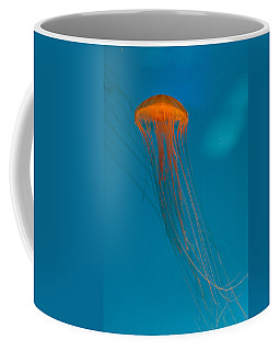 Glowing Orange Sea Nettle Coffee Mug