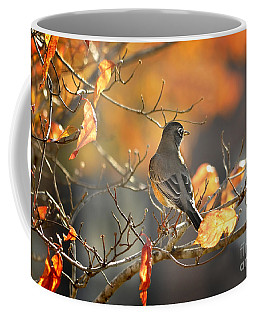 Glowing Robin 2 Coffee Mug
