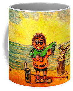 Go Fish Coffee Mug by Hazel Holland