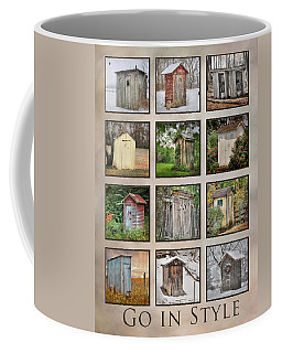 Go In Style - Outhouses Coffee Mug by Lori Deiter