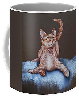 Coffee Mug featuring the painting Go On Throw It Again by Cynthia House