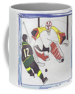 Coffee Mug featuring the drawing Shut Out By Jrr by First Star Art