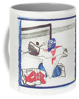 Coffee Mug featuring the drawing Goalie By Jrr by First Star Art