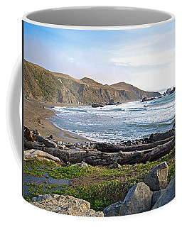 Goat Rock State Beach On The Pacific Ocean Near Outlet Of Russian River-ca  Coffee Mug