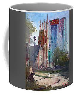 God And The Devil And I Coffee Mug