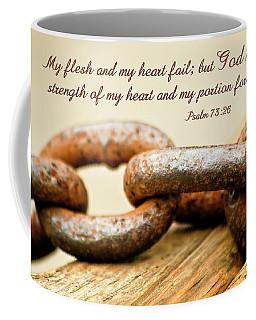 Coffee Mug featuring the photograph God Is My Strength by Carolyn Marshall