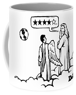 God To An Angel On A Cloud Overlooking Earth Coffee Mug