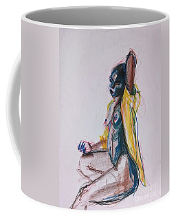 Coffee Mug featuring the drawing Goddess by Gabrielle Wilson-Sealy