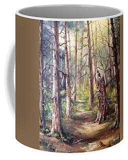 Coffee Mug featuring the painting Going For A Walk by Megan Walsh