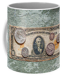 Gold Certificate And Silver Coins Ver 1 Coffee Mug