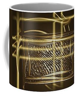 Gold Chrome Abstract Coffee Mug