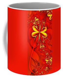 Gold Flowers Coffee Mug