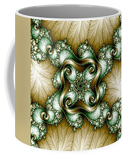 Gold-green Fractal Coffee Mug