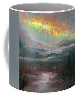 Gold Lining - Chugach Mountain Range En Plein Air Coffee Mug