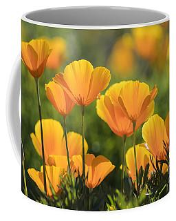 Gold Poppies Coffee Mug by Tamara Becker