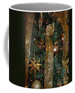 Gold Tones Tree Coffee Mug
